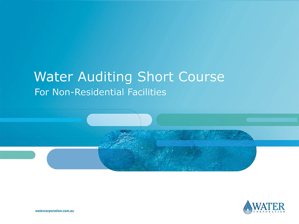 Water Auditing Training